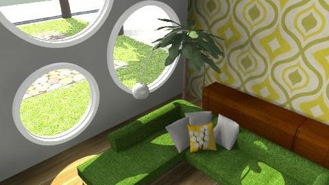 Chilin' Green 2 - Retro - Living room - by juhaszrena