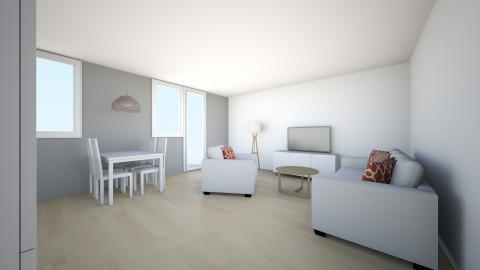 juustyna szara sciana - Minimal - Living room - by juustyna