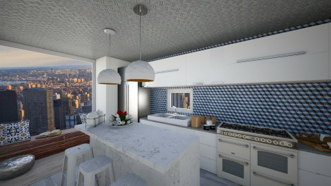City Kitchen - Retro - Kitchen - by deleted_1524503933_Architectural