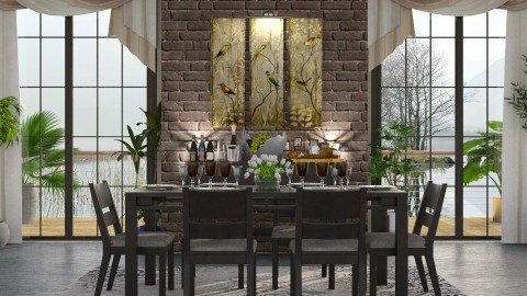 Dinner Time - Dining room - by Ania Daliva