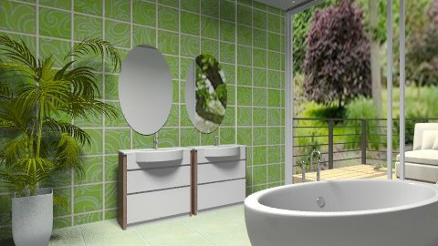Green - Minimal - Bathroom - by milyca8