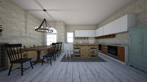 rustic kitchen_dining - Rustic - Kitchen - by hellothere1515