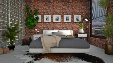 Brick and Glass - Bedroom - by Gabby Lovell