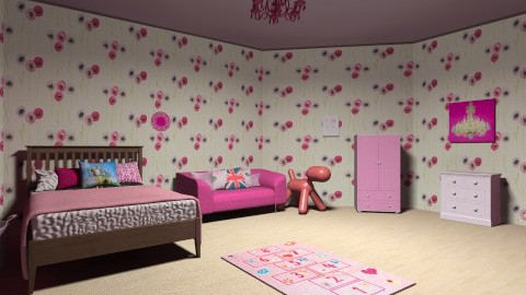 pretty and pink - Classic - Kids room - by lopperdoodle