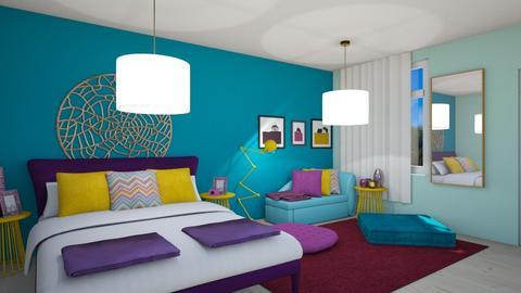 Color Clash - Retro - Bedroom - by aggelikimar