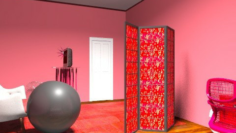 RED - Retro - Bedroom - by ndfinney