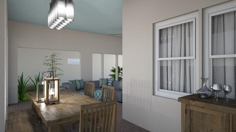 Patio - Living room - by Dwellings LLC