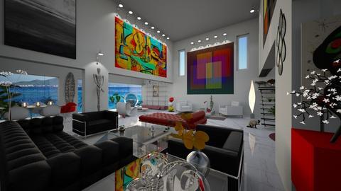 Mid Century Modern Living Room - by LuzMa HL