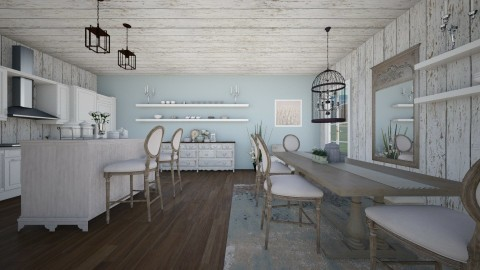 Family kitchen  - Country - Kitchen - by Malwalker02