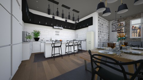 kitchen for a family - Modern - Kitchen - by sometimes i am here
