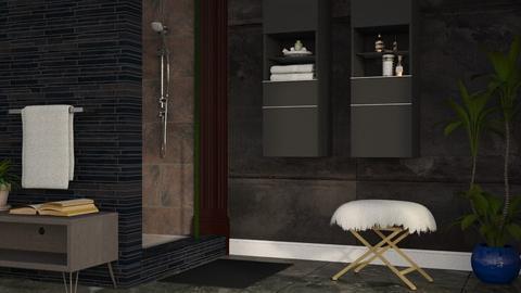 Dark Bath - Modern - Bathroom - by millerfam