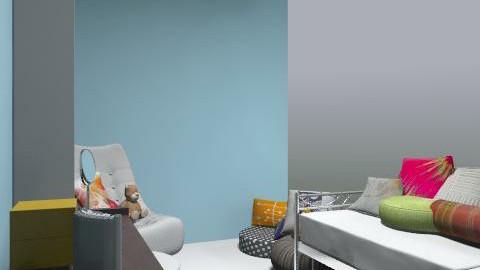 Megan's Room II - Retro - Bedroom - by awesomegano