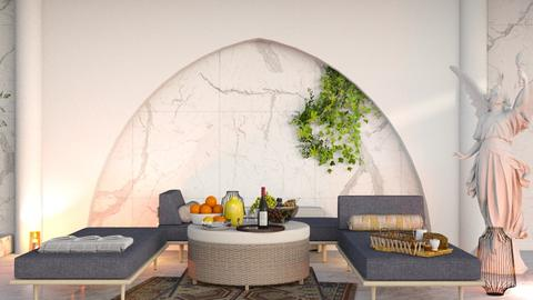 Triclinium - Glamour - Bedroom - by elephant in savanna