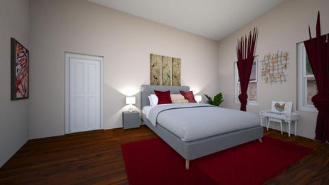 Eclectic Master RM Pt 1 - Modern - Bedroom - by Alba Stages
