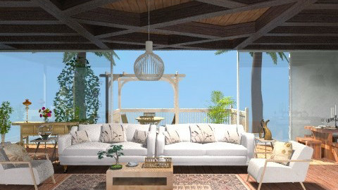 TropicalLiving - Country - Living room - by jackiefruit