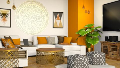 Orange Family Room - Eclectic - Living room - by millerfam