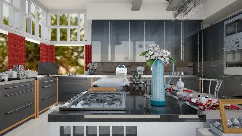 Cozinha grande funcional - Kitchen - by Roberta Coelho