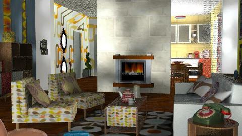 Retrospective   - Retro - Living room - by bizarrrr
