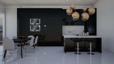 Glossy Apartment - Modern - Kitchen - by GinnyGranger394