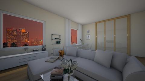 white living room - by Nia Khachidze