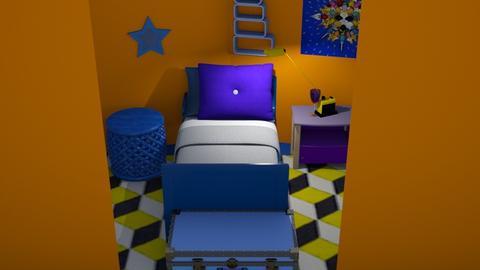 blue is the new orange   - Vintage - Bedroom - by dinorock112_v3