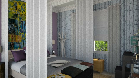 calm waves - Retro - Bedroom - by Eleni Irini