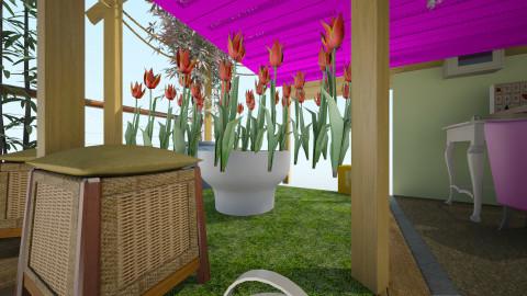 outdoors colours retrofie - Bedroom - by Chloe Marie Waters