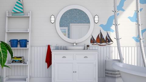 nautical wc - Classic - Bathroom - by donella