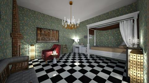 AM Strauss Inspired Room - Vintage - Bedroom - by jaylynhowell