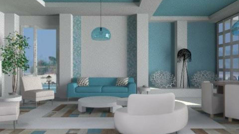 Blue - Eclectic - Living room - by liling