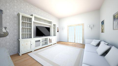 white style  - Feminine - Living room - by Jo Oliveira
