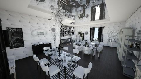 living black and white - Modern - Living room - by Nair Ailen