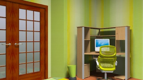 green office - Office - by cici45