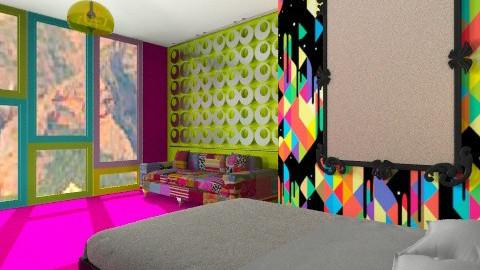 Rainbow room - Retro - Bedroom - by StienAerts