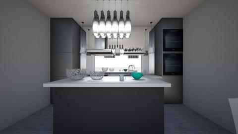 Cool Concrete Kitchen - Kitchen - by Emmie101