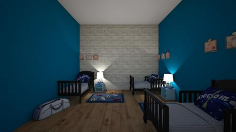 Sports themed room - Kids room - by ellarowe224