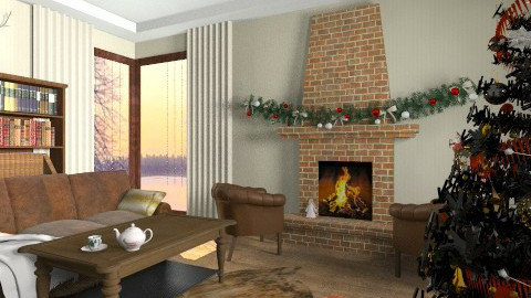 Christmas - Living room - by ProOlya