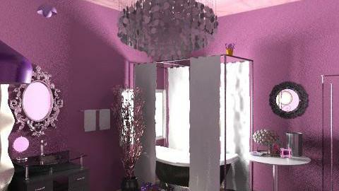bath purple - Glamour - Bathroom - by Mary Swanson