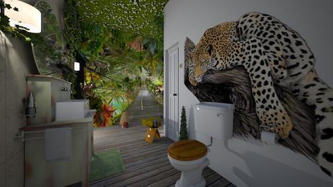 jungle  bath - by nat mi