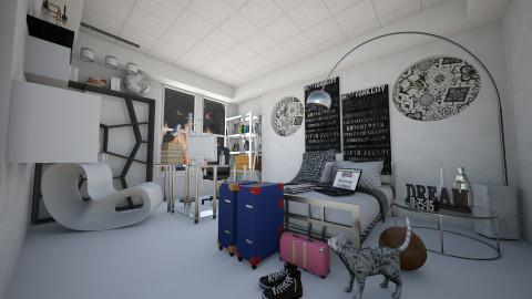 Comfort in Silver - Minimal - Bedroom - by martillaga