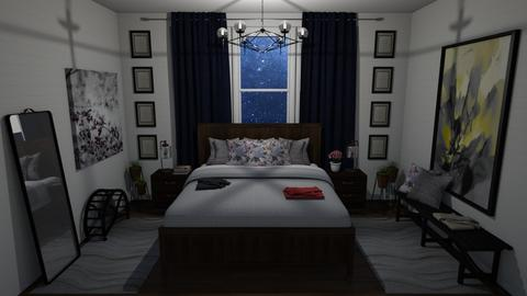Wood At Night Bedroom - Bedroom - by Cap98