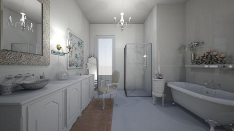 shabby chic bathroom - Bathroom - by stephanie delios