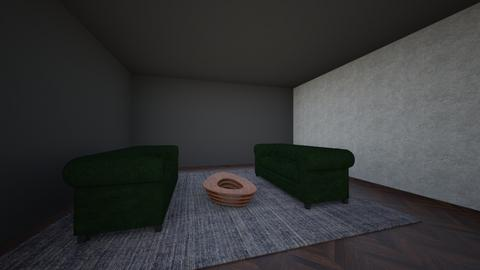Dark Modern Living Room  - Modern - Living room - by AmmarAAInterior