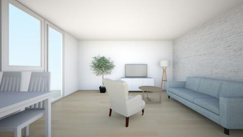juustyna biala cegla 1 - Minimal - Living room - by juustyna