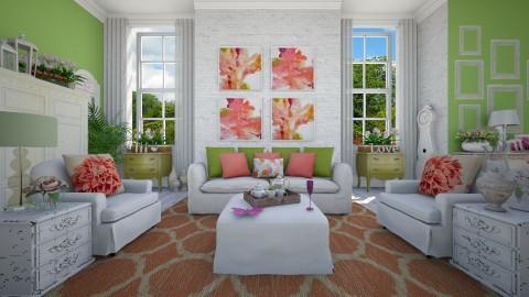 Shabby Chic Summer - Living room - by Isabella Desjardin