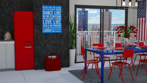 Red n Blue - Dining room - by lovedsign