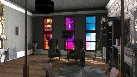 Chelsea Hotel goth rm 900 - Eclectic - by kitty