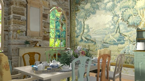 Shabby Chic, too - Vintage - Dining room - by starsector