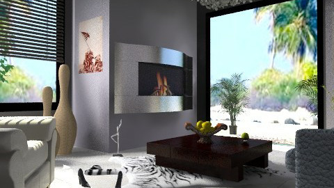 Fire - Minimal - Living room - by milyca8