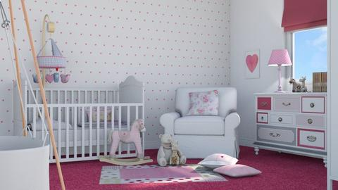 Pink Baby - Kids room - by GraceKathryn
